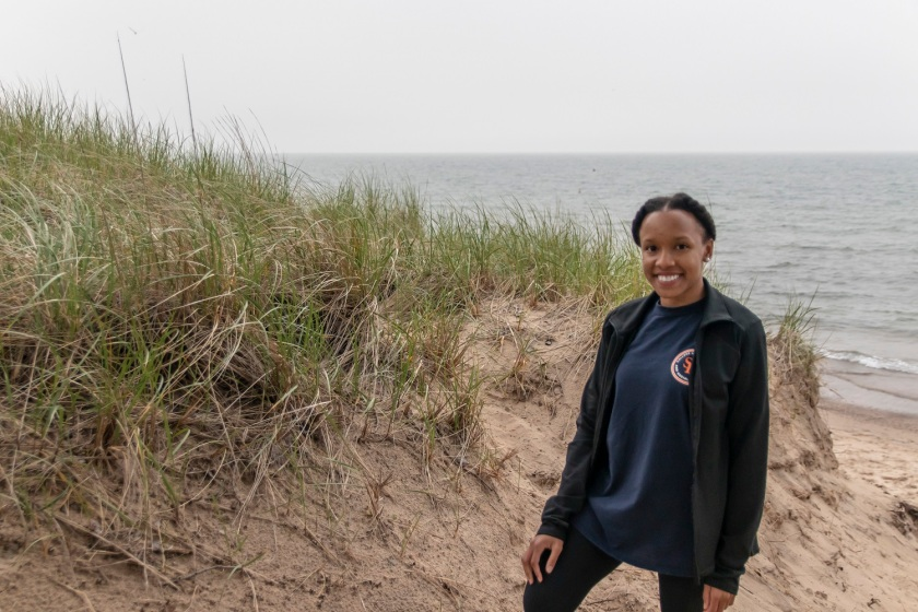 SHSU, LEAP Center, LEAP Ambassadors, Indiana Sand Dunes National Park, West Beach, Ilexus Williams