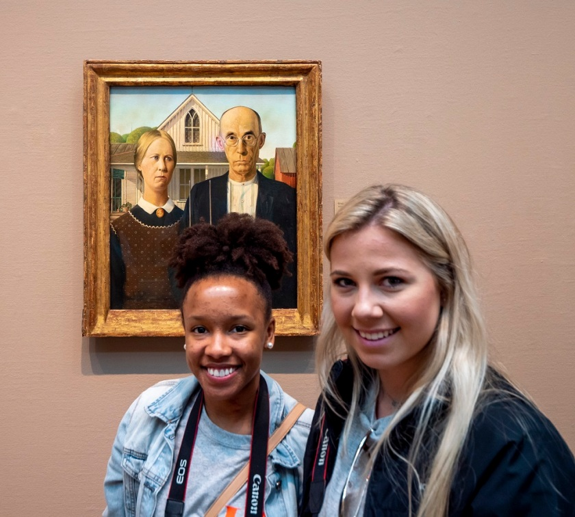 SHSU, LEAP Center, LEAP Ambassadors, Art Institute of Chicago, Grant Wood, American Gothic