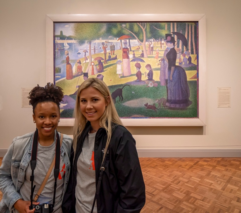 SHSU, LEAP Center, LEAP Ambassadors, Art Institute of Chicago, George Seurat, Sunday La Grande Jatte