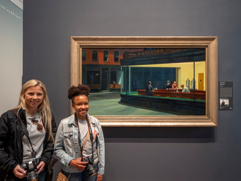 SHSU, LEAP Center, LEAP Ambassadors, Art Institute of Chicago, Edward Hopper, Nighthawks