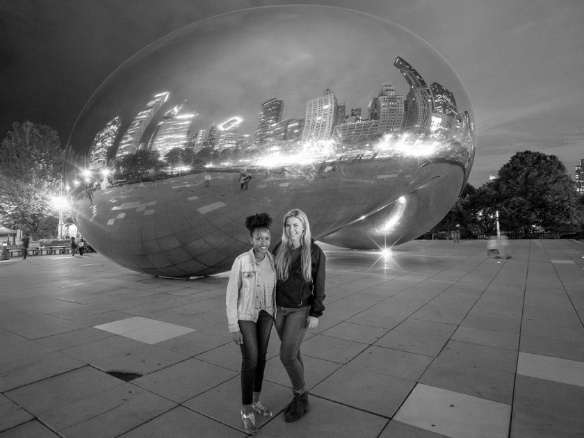 SHSU, LEAP Center, LEAP Ambassadors, Chicago IL, Architecture, Anish Kapoor, Cloud Gate, Maggie Denena, Ilexus Williams