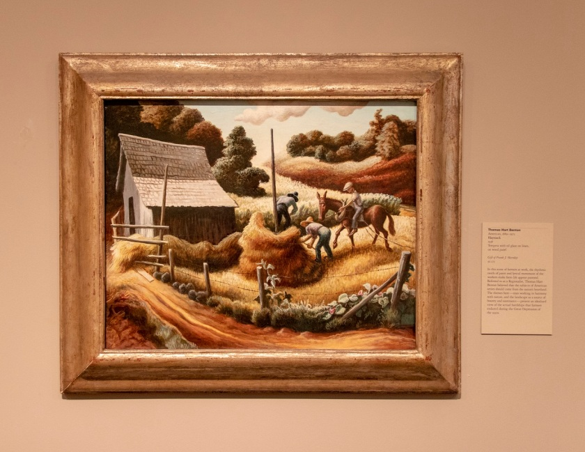 SHSU, LEAP Center, LEAP Ambassadors, MFAH, Museum of Fine Arts, Houston TX, Thomas Hart Benton