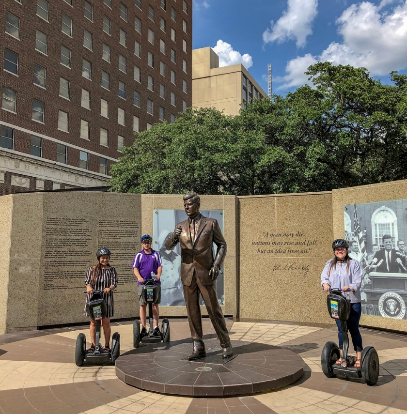 SHSU, LEAP Center, LEAP Ambassadors, Fort Worth, JFK Statue, Segway Nation