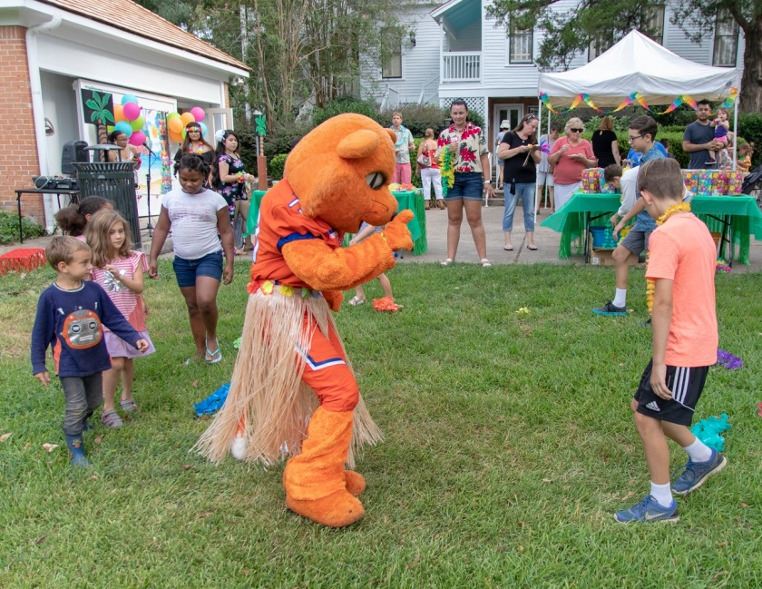 SHSU, LEAP Center, LEAP Ambassadors, Wynne Home Arts Center, Hawaiian Luau, Sammy Bearkat
