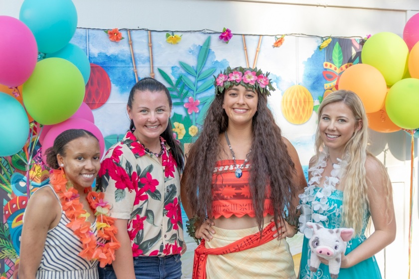 SHSU, LEAP Center, LEAP Ambassadors, Wynne Home Arts Center, Hawaiian Luau, Princess Moana