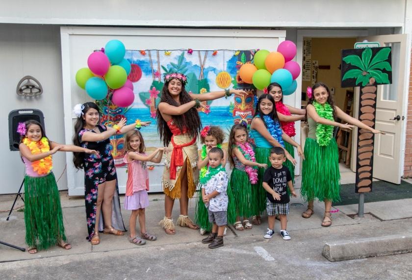 SHSU, LEAP Center, LEAP Ambassadors, Wynne Home Arts Center, Hawaiian Luau, Princess Moana