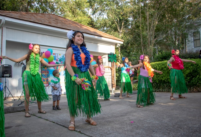SHSU, LEAP Center, LEAP Ambassadors, Wynne Home Arts Center, Hawaiian Luau