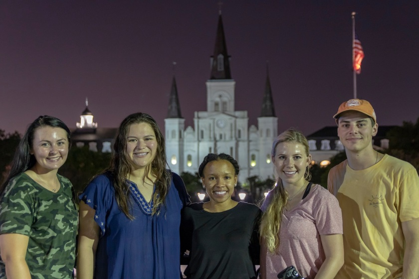 SHSU, LEAP Center, LEAP Ambassadors, Jackson Square, NOLA, St Louis Cathedral