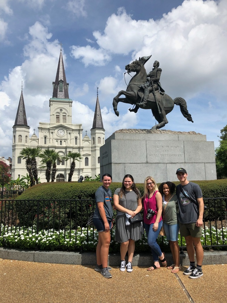 SHSU, LEAP Center, LEAP Ambassadors, NOLA, New Orleans, Jackson Square