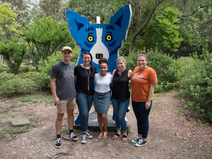 SHSU, LEAP Center, LEAP Ambassadors, NOLA, New Orleans Louisiana, Besthoff Sculpture Garden, George Rodrigue, Blue Dog