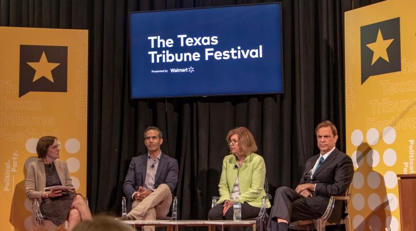 SHSU, LEAP Center, LEAP Ambassadors, Austin Texas, Texas Tribune Festival, Tribfest, George P. Bush, Susan Page, Michael Beschloss
