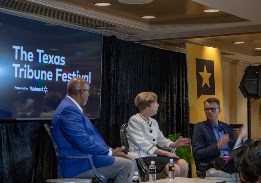 SHSU, LEAP Center, LEAP Ambassadors, Texas Tribune Festival, Tribfest 2019, Trade, Ron Kirk, Carla Anderson Hill