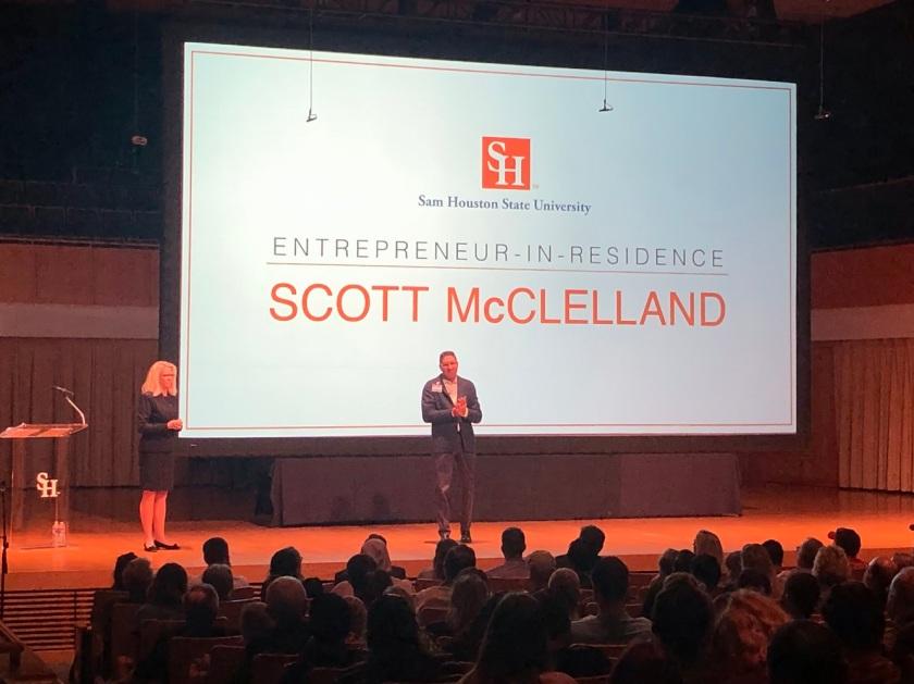 SHSU, LEAP Center, LEAP Ambassadors, Entrepreneur in Residence, Scott McClelland