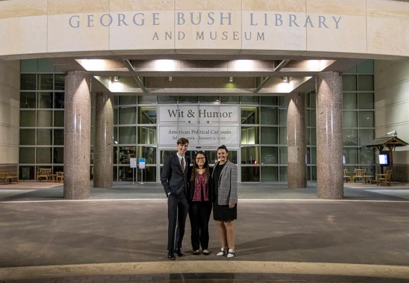 SHSU, LEAP Center, LEAP Ambassadors, Bush School of Public Affairs, Texas A&M, Jim Olson, Lindsey O'Rourke, Austin Carson