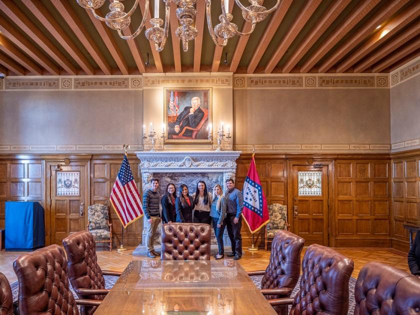 SHSU, LEAP Center, LEAP Ambassadors, Center for Law Engagement And Politics, Little Rock AR, Arkansas State Capitol
