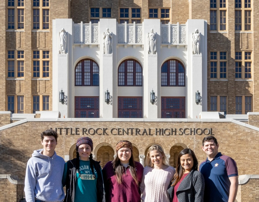 SHSU, LEAP Center, LEAP Ambassadors, Center for Law Engagement And Politics, Little Rock AR, Little Rock Central High Museum, Little Rock Nine