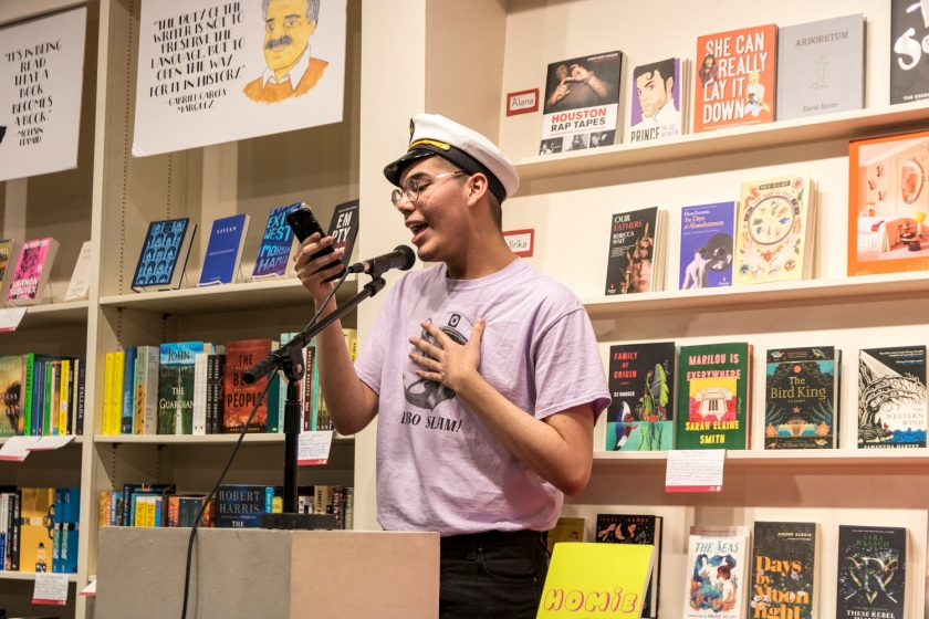 SHSU, LEAP Center, LEAP Ambassadors, Center for Law Engagement And Politics, Chavez High School Lobo Slam Poetry Team, Brazos Bookstore, Danez Smith