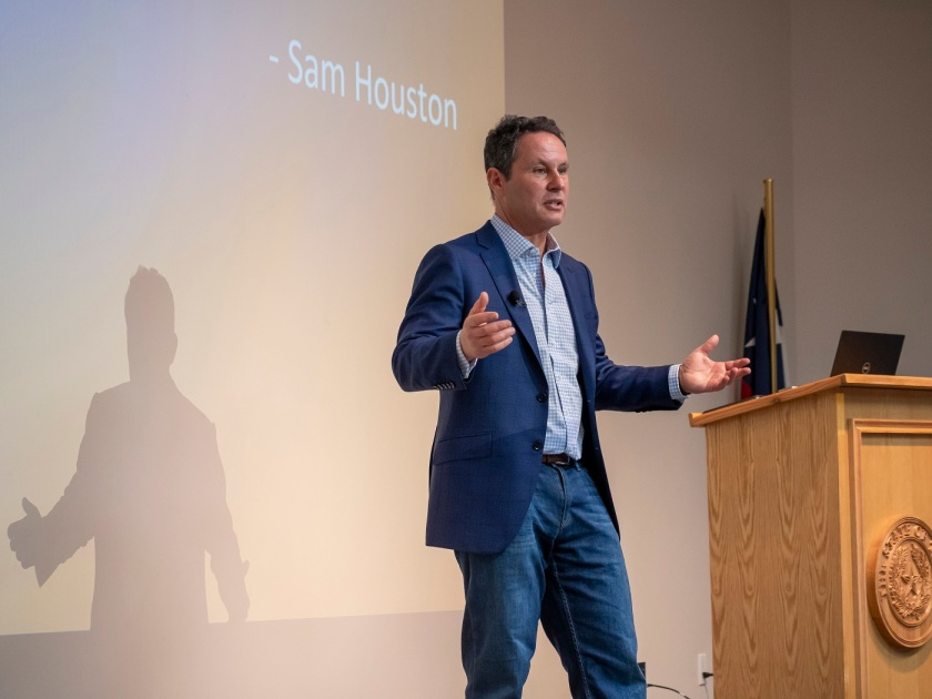 SHSU, Sam Houston Memorial Museum, LEAP Center, Center for Law Engagement And Politics, Sam Houston, Brian Kilmeade