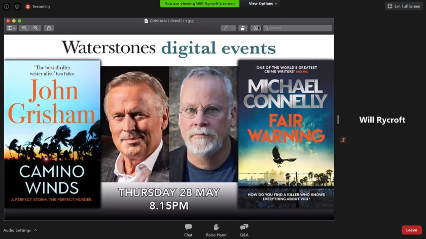 SHSU, LEAP Center, Center for Law Engagement And Politics, Michael Connelly, John Grisham, Waterstones, Phil Williams