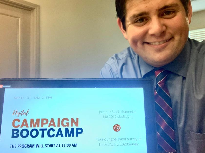SHSU, LEAP Center, Campaign Bootcamp, New Politics Forum, Annette Strauss Institute, Quinn Kobrin