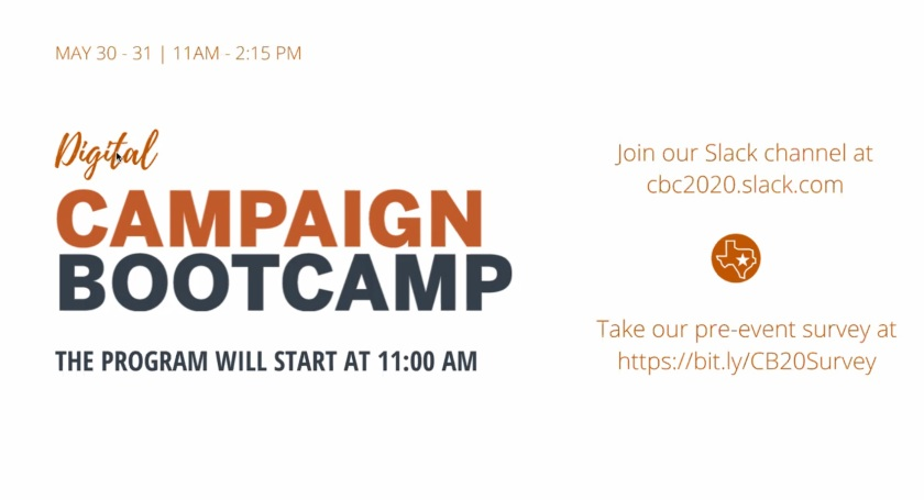 SHSU, LEAP Center, Campaign Bootcamp, New Politics Forum, Annette Strauss Institute