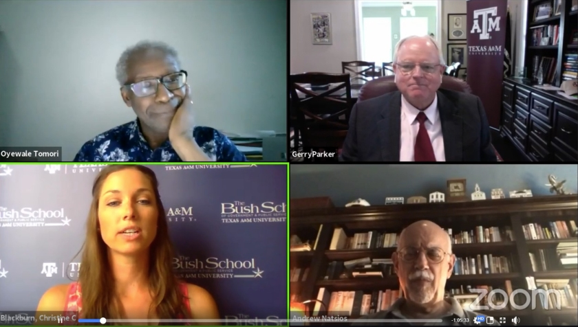 SHSU, LEAP Center, Center for Law Engagement And Politics, Bush School at Texas A&M University, Scowcroft Institute, Dr. Christi Blackburn, Dr. Gerald Parker, Professor Andrew Natsios, Dr. Oyewale Tomori, Pandemics