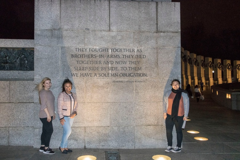 SHSU, LEAP Center, Center for Law Engagement And Politics, Washington DC, World War II Memorial